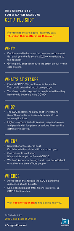 A preview image of an infographic that explains the importance of getting a flu shot this season.