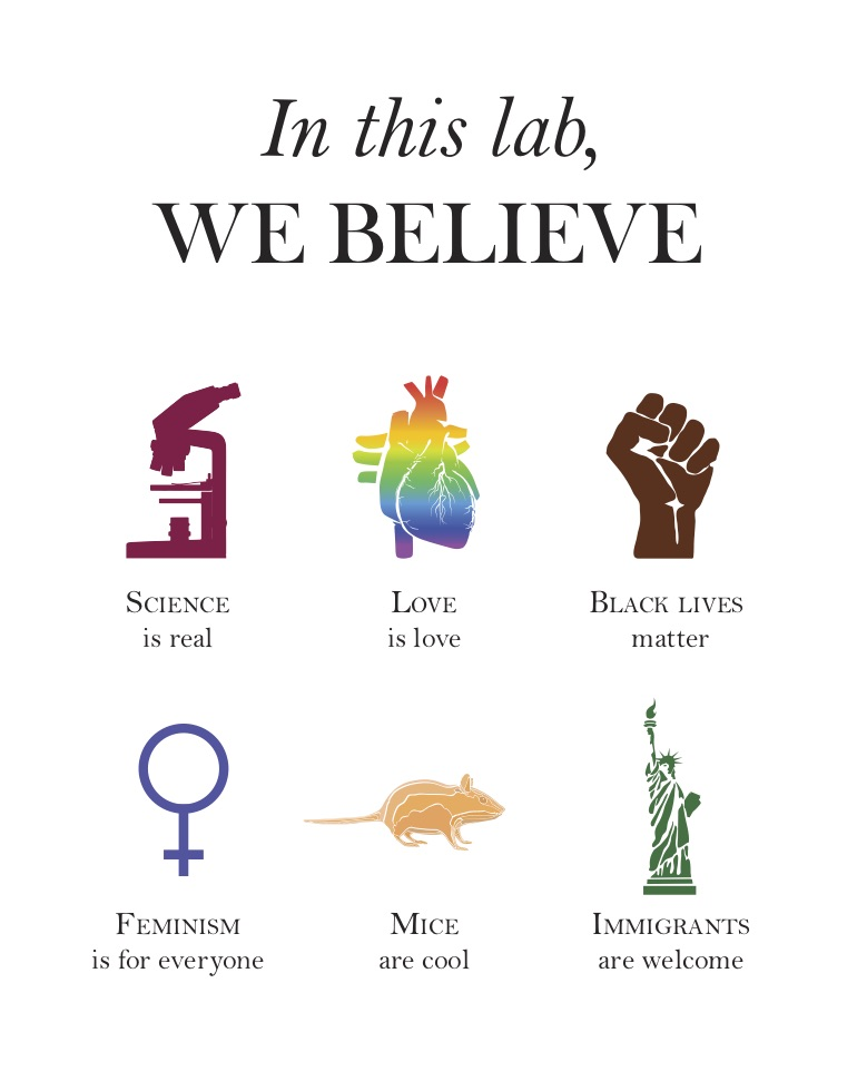 We believe in science and equality