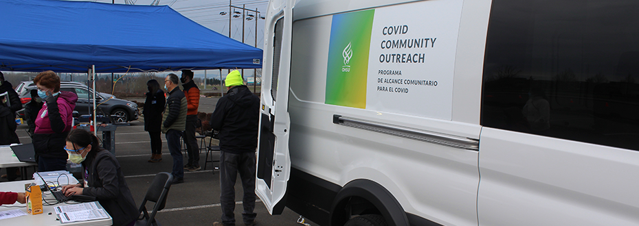 COVID Community Outreach mobile testing van