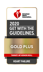 KCVI Cardio American Heart Association (AHA) Get with the Guidelines Gold Plus Badge
